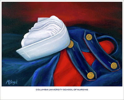 University School Painting - Columbia University School Of Nursing by Marlyn Boyd