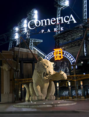 Comerica Park Home Of The Tigers Print by Richard Spitler
