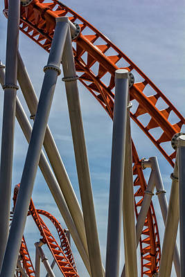 Roller Coaster Photograph - Coney Island Detail - Roller Coaster by Robert Ullmann