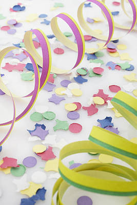 Confetti And Streamers Print by Photo Division