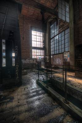Building Factory Work Vintage Digital Art - Control Room by Nathan Wright