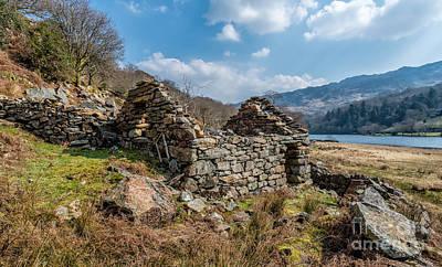 Abandoned Digital Art - Cottage Ruin by Adrian Evans