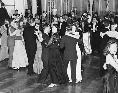 Evening Gown Photograph - Couples Dancing To Big Band by Underwood Archives