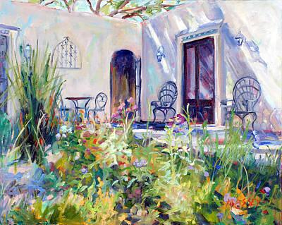 Courtyard Dalliance Original by Marie Massey