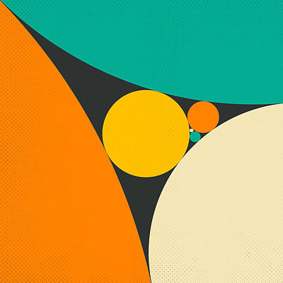 Coxeter's Loxodromic Sequence Of Tangent Circles Print by Jazzberry Blue