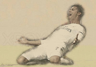 Wayne Rooney Digital Art - Cristiano Ronaldo Reacts by Don Kuing