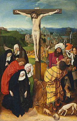 Crucifixion Print by Gerard David