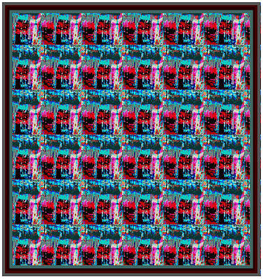 Salmon Mixed Media - Crystal Energy Crystal Stone Micro Photography Pattern Graphic Art   by Navin Joshi