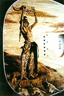 Esp Guitars Pyrography - Custom Esp Guitar - Detail by Dino Muradian
