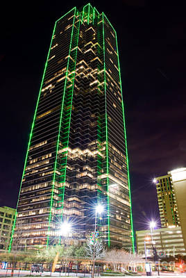 Dallas Texas Night Print by Anthony Totah
