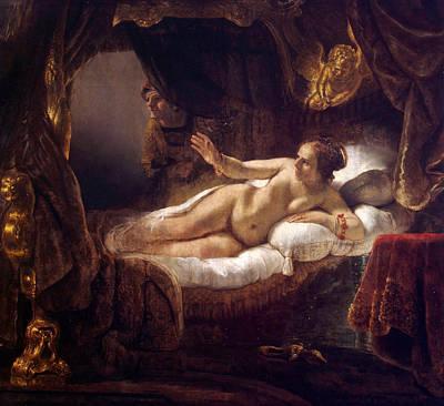 Perseus Painting - Danae by Rembrandt van Rijn