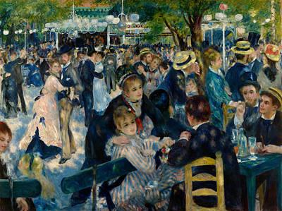 Ballroom Painting - Dance At Le Moulin De La Galette by Pierre-Auguste Renoir