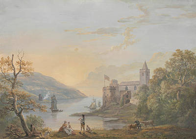 18th Century Painting - Dartmouth Castle by Paul Sandby