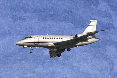 Falcon Digital Art - Dassault Falcon 2000 Jet Art by David Pyatt