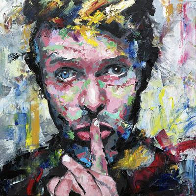 Labyrinth Painting - David Bowie by Richard Day