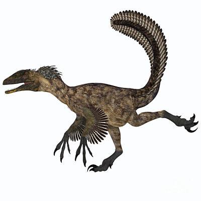 Deinonychus Dinosaur Print by Corey Ford