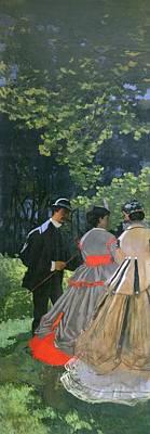 Dinner Painting - Dejeuner Sur Lherbe by Claude Monet