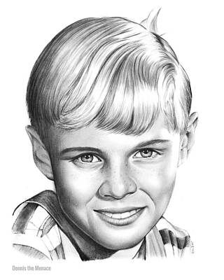 Hollywood Drawing - Dennis The Menace by Greg Joens