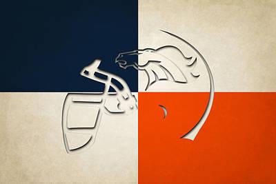 Denver Broncos Helmet Print by Joe Hamilton