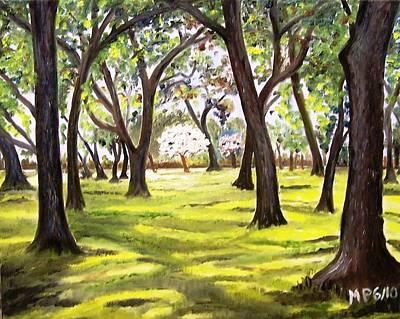 Trees Painting - Descanso Underwoods by Madeleine Prochazka