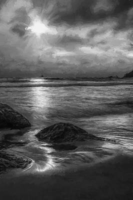 Distant Lighthouse  II Print by Jon Glaser