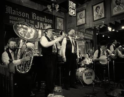 Dixieland Jazz On Bourbon Street Print by Mountain Dreams