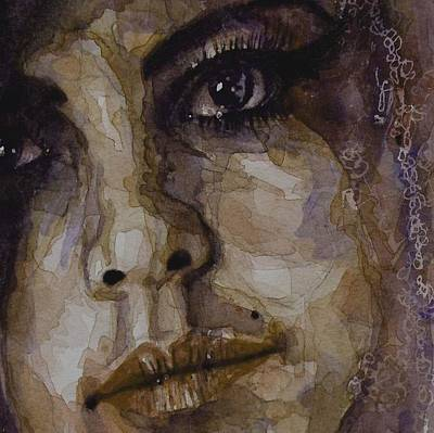 Woman Crying Painting - Do You Think Of Her When Your With Me  by Paul Lovering