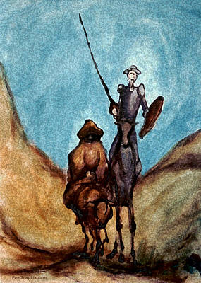 Don Quixote Painting - Don Quixote  by Kevin Middleton