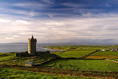 Doonagore Tower Photograph - Doonagore Castle Co.clare Ireland by Pierre Leclerc Photography
