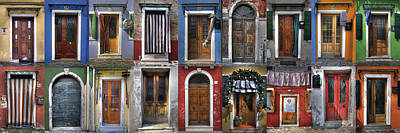 Collage Photograph - doors and windows of Burano - Venice by Joana Kruse