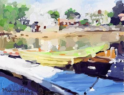 Beach Painting - Dories At Beacon Marine Basin by Melissa Abbott