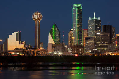 Downtown Dallas, Texas Print by Anthony Totah