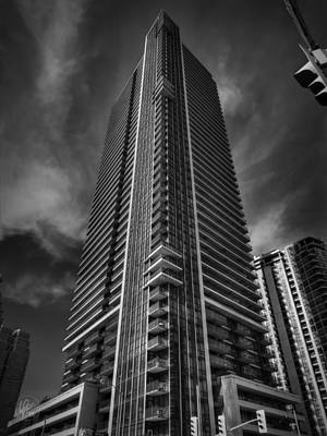 Architecture Photograph - Downtown Toronto 002 Bw by Lance Vaughn