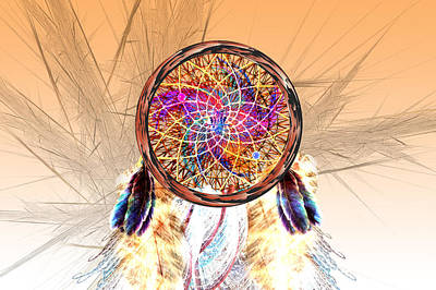 Dream Catcher Print by Carol and Mike Werner
