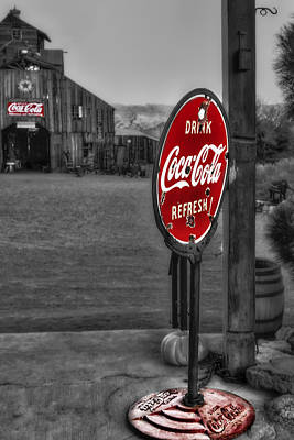 Land Photograph - Drink Coca Cola Refresh by Susan Candelario