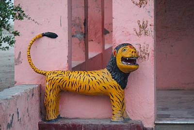 Durga's Lion, Vrindavan Print by Jennifer Mazzucco