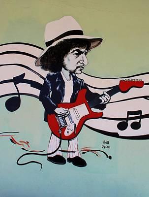 Bob Dylan Digital Art - Dylan by Rob Hans