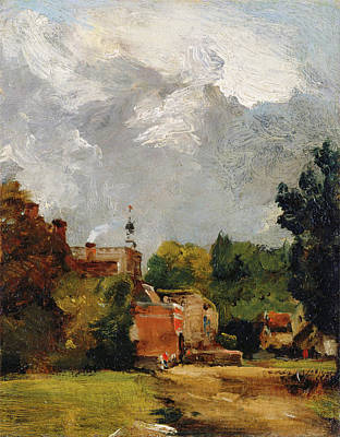 Outlook Painting - East Bergholt Church by John Constable