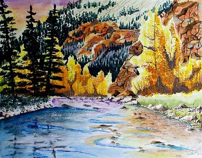 East Clear Creek Print by Jimmy Smith