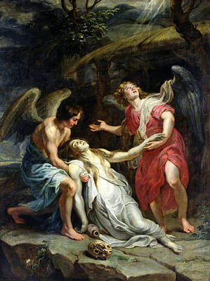 Mary Magdalene Painting - Ecstasy Of Mary Magdalene by Peter Paul Rubens