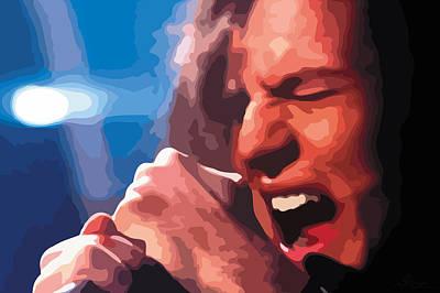 Pearl Jam Digital Art - Eddie Vedder by Gordon Dean II