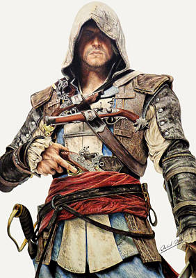 Edward Kenway - Assassin's Creed Black Flag Original by David Dias