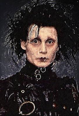 Johnny Depp Digital Art - Edward Scissorhands by Taylan Apukovska