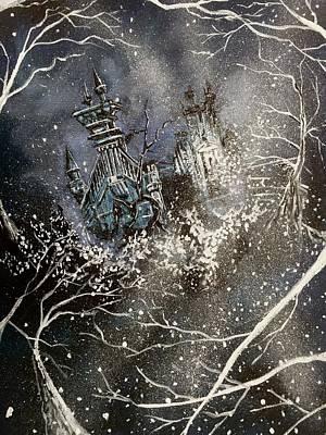 Edward Scissorhands Painting - Edward's Castle by Joel Tesch