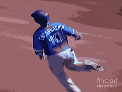 Home Run Hitter Mixed Media - Edwin Encarnacion by Nina Silver