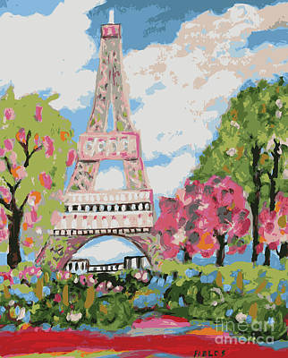 Eiffel Tower Dream Print by Karen Fields