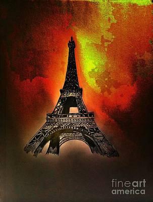 Eiffel Tower Drawing - Eiffel Tower, Paris France by Scott D Van Osdol