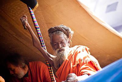 India Babas Photograph - Ek-bahu Baba by John Battaglino