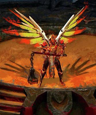 Theater Painting - El Diablo - Free Style by Leonardo Digenio