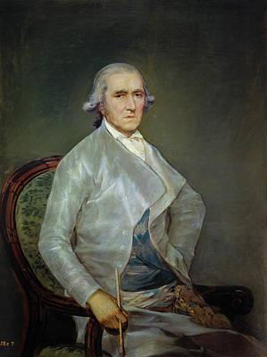Seated Painting - El Pintor Francisco Bayeu by Francisco Goya